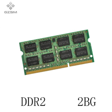 GZSM Laptop Memory DDR2 2GB for PC2 4200 5300 6400 8500 Memory Cards  533MHZ 667MHZ 800MHZ 1066MHZ Memory RAM 200pin 1.8V memory 511 1284 2gb 1rx4 pc2 5300p ddr2 m4000 m5000 667mhz one year warranty