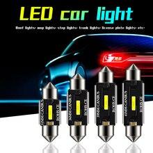 10 Uds 12V 12 V/24 V C5W adorno 31MM 36MM 39MM 41MM Canbus bombilla led de coche CSP 1860 chip 6W C10W luz Interior del coche luz de techo de lectura