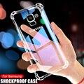 Роскошный противоударный Прозрачный чехол для Samsung Galaxy A5 A7 A9 J2 J8 2018 чехлы Samsung A6 A8 J4 J6 Plus 2018 чехол для телефона