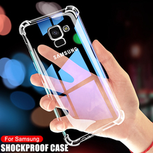 Luxury Shockproof Transparent Case For Samsung Galaxy A5 A7 A9 J2 J8 2018 Cases Samsung