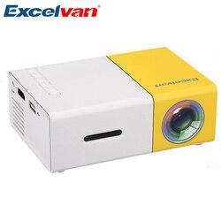 Excelente yg300 mini projetor portátil lcd proyector hdmi usb av sd 400-600 lúmen teatro crianças educação beamer projetor