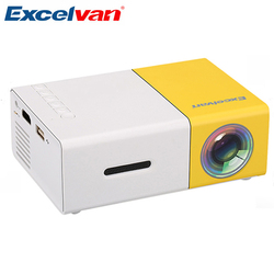 Excelvan YG300 мини портативный проектор ЖК-проектор HDMI USB AV SD 400-600 люмен для театрального детского образования проектор