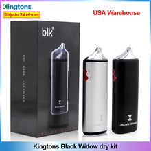 オリジナル Kingtons 黒未亡人ハーブ気化器蒸気を吸うキット 2200 バッテリー蒸気ボックス mod E Cigarete ハーブ蒸気を吸うペンセラミック加熱
