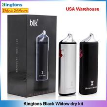 Original Kingtons noir veuve à base de plantes vaporisateur vape Kit 2200mAh batterie vapeur boîte mod E cigarette à base de plantes Vape stylo en céramique chauffage