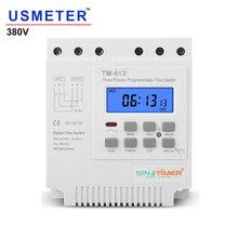 TM613 380 В 16 А трехфазный программируемый таймер на 7 дней 16 А, реле, цифровой таймер, двигатель, автоматический интеллектуальный контроллер
