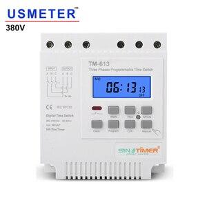 Image 1 - TM613 380V 16A trzy fazy 7 dni programowalny 16A przekaźnik cyfrowy włącznik czasowy silnik automatyczny inteligentny kontroler