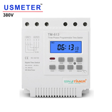 Tm613 380v 16a três fases, 7 dias programável, 16a, relé, temporizador digital, interruptor, controlador inteligente automático