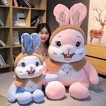 Kawaii High Quality Rabbit Plush Toy Soft Cartoon Animal Four Colors Mouse Stuffed Doll Home Decoration Christmas Gift for Kids