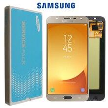 100% original LCD Für Samsung Galaxy J7 neo J701 J701F J701M AMOLED LCD Display Touch Digitizer bildschirm Helligkeit Einstellung