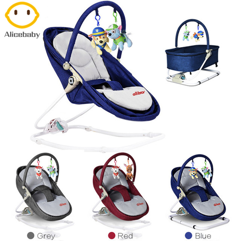 Top Quality Baby Swing Baby Rocking Chair Cradle Baby Crib Infant Bed With Hanging Toys For Newborns 0-36 Month Best Gift