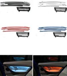 Radio trim led dashboard center konsola AC panel światło z niebieskim i pomarańczowym kolorem atmosfera światło dla BMW serii 3 i 4 F30 LCI tanie i dobre opinie lead the future