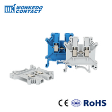 Din Rail Terminal Blocks UK-3N   Connector Universal  Connector Electrical Wiring Screw Terminal UK3N 10Pcs ptf14a e 14 screw terminal relay socket base din rail for hh64p y4nj