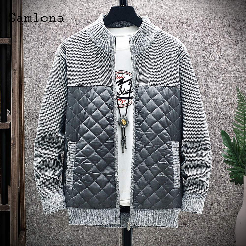 Mens Autumn New Sweaters Patchwork Argyle Mens Clothing Winter Sweater Coats masculinas pull homme ropa Knitted Cardigan Sweater