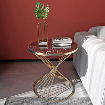 Fashion design round small luxury Marble coffee table  2