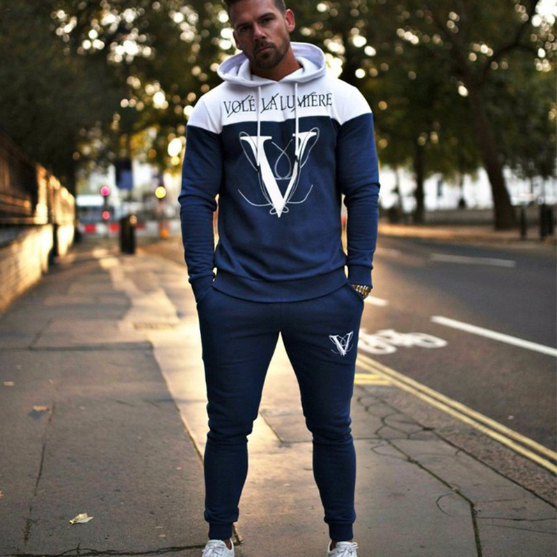 Men NEW sporting suits mens fashion tracksuit men training fitness Men's Sportswear Suit Hoodies Tracksuit Joggers Set Male Suit