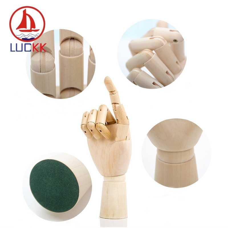 Lucky k-Mannequin modèle membres mobiles   En bois massif, artisanat de Miniatures naturelles et à la main, Figurines croquis d'artiste, cadeaux de décoration