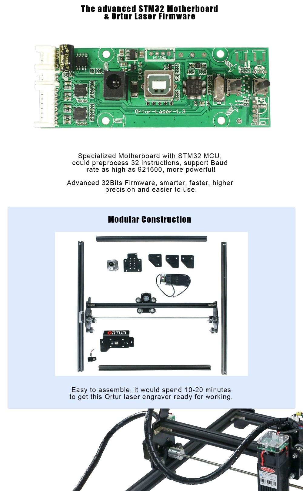 Ortur laser mestre 2 usb gravador do