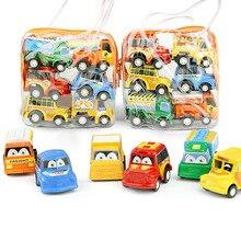 6pcs/bag Baby Montessori Toys Pullback Car Juguetes Mini Models pull-back vehicle Education