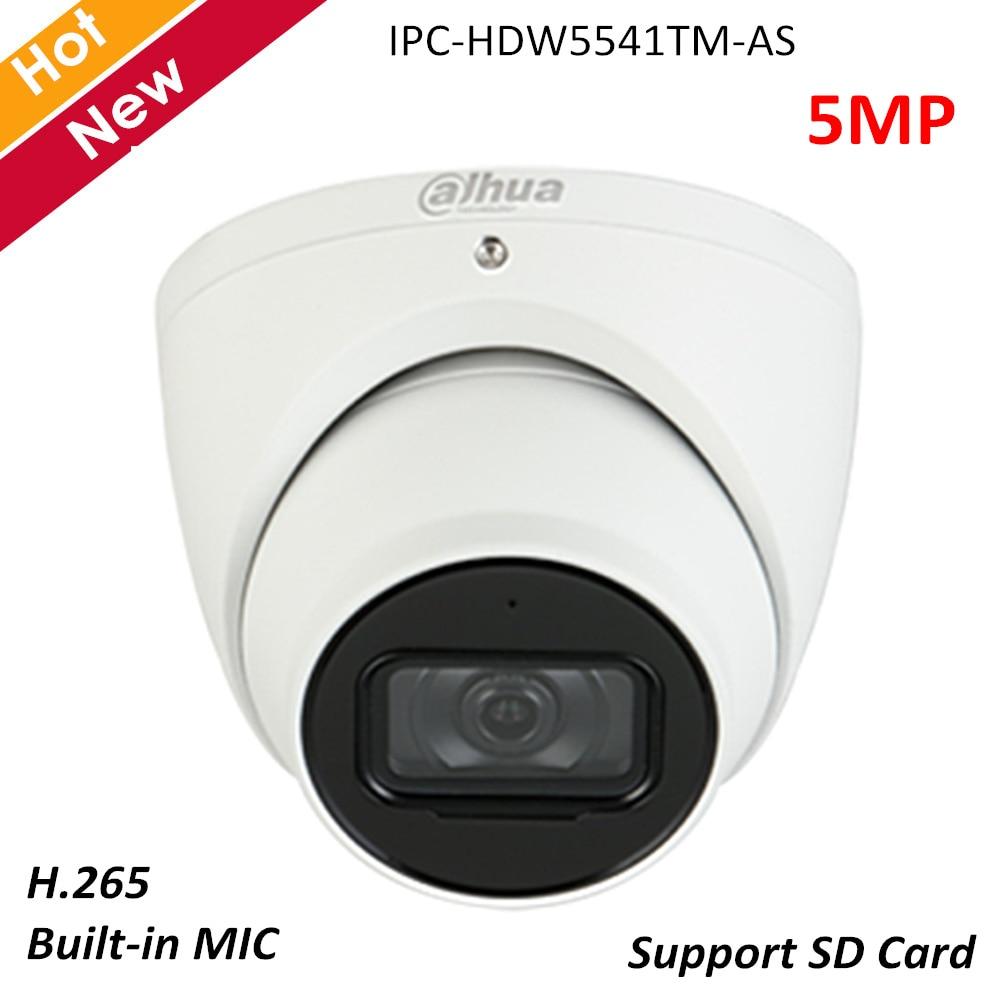 Dahua 5MP IP Camera IPC-HDW5541TM-AS WDR IR Eyeball AI Network Camera Built-in MIC H.265 IR 50m Waterproof IP67 Security Camera