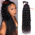 Волнистые пряди вьющиеся волосы пряди 100% Пряди человеческих волос для наращивания волнистые вплетаемые пряди 1/3/4 шт. перуанское мелировани...