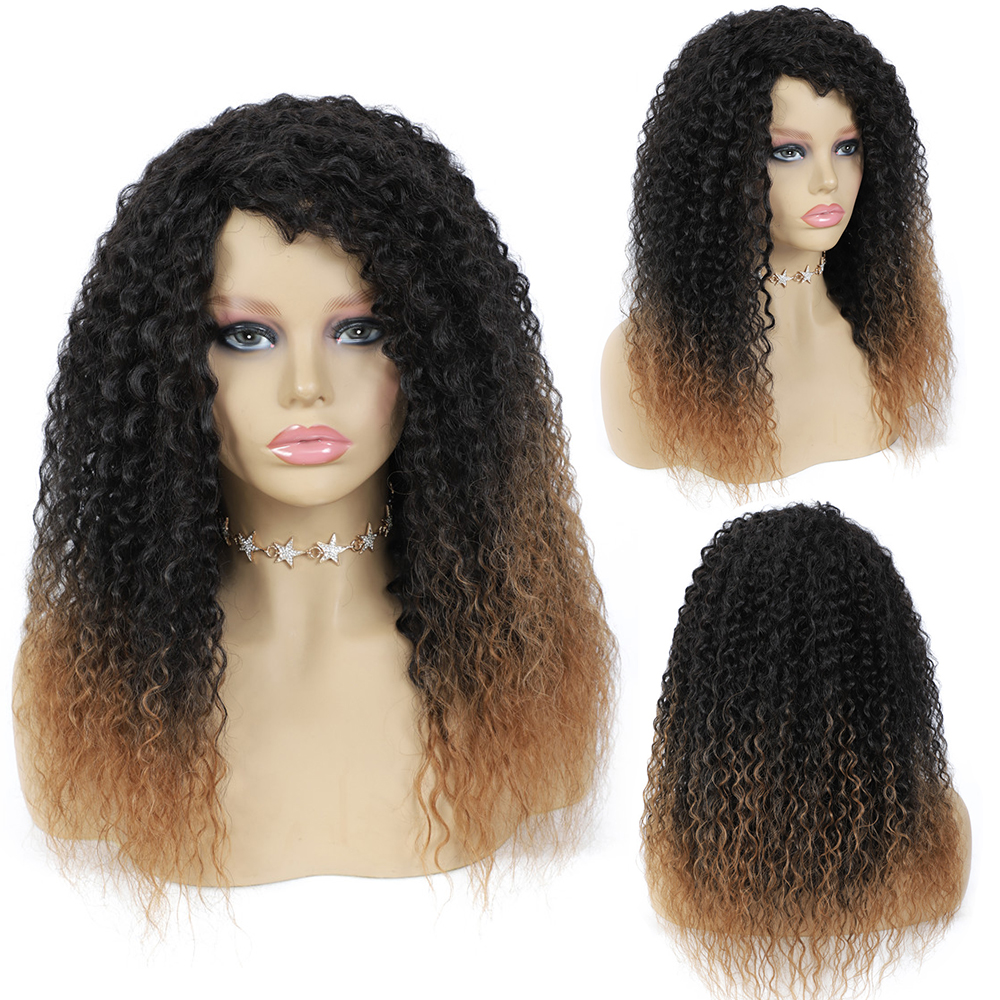 X-TRESS kinky encaracolado sintético misturado 30% perucas
