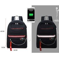 Women Fashion Anti Theft Reflective Backpack Large Capacity Daypack with USB Charging Port Travel Bookbag Teenagers Girls Schoolbag