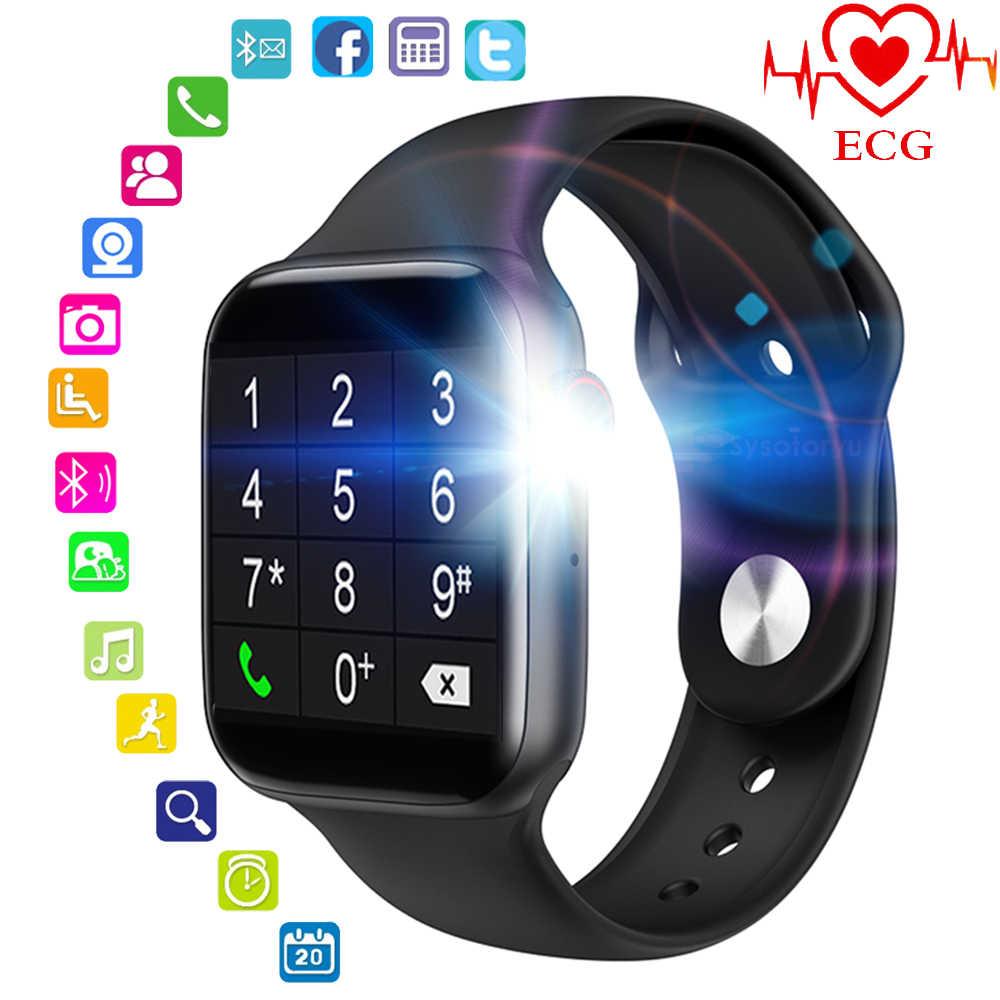 MTK2502D montre intelligente soutien Bluetooth Message d'appel ECG fréquence cardiaque montre intelligente hommes Smartwatch femmes 5 pour Apple téléphone Android