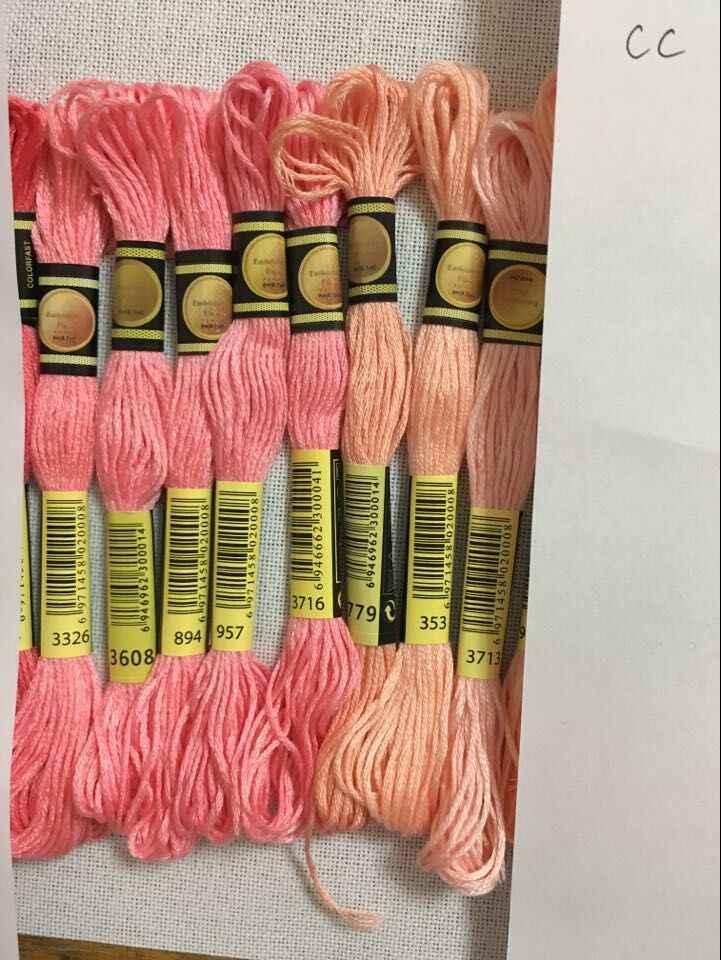 ملليمتر cxc متعدد الألوان 8 قطعة مماثلة DMC الموضوع عبر غرزة القطن الخياطة Skeins التطريز الموضوع الخيط عدة لتقوم بها بنفسك أدوات خياطة