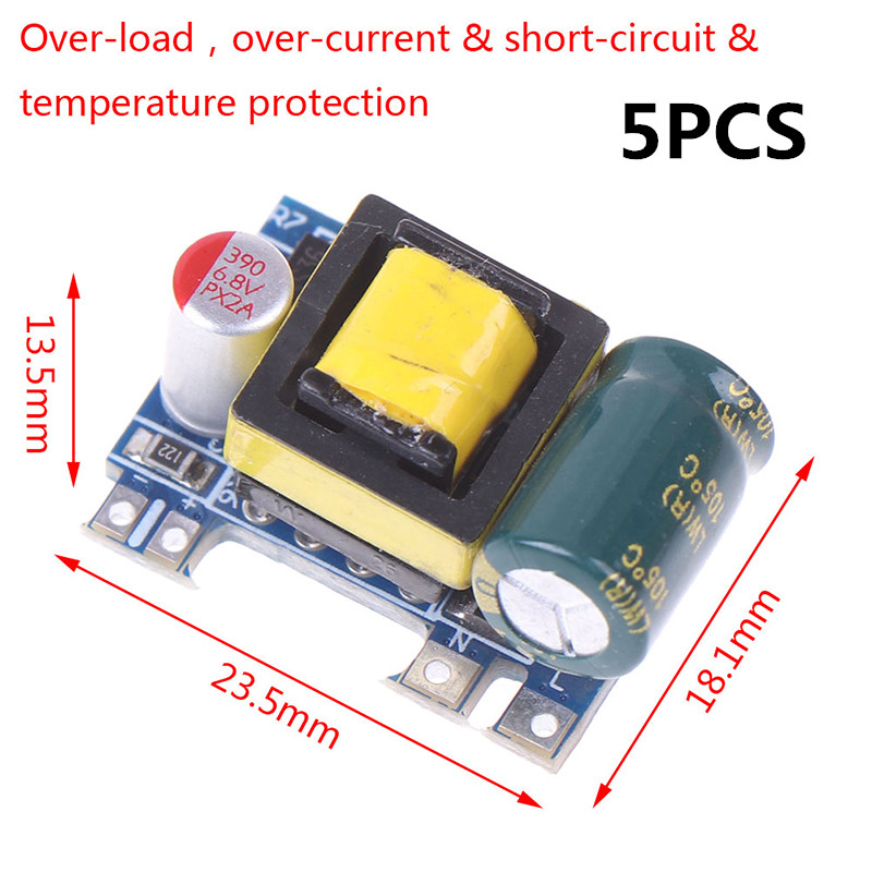 5PCS New Mini AC-DC 110V 120V <font><b>220V</b></font> 230V <font><b>To</b></font> 5V <font><b>12V</b></font> Converter Board <font><b>Module</b></font> Power Supply Wholesale image