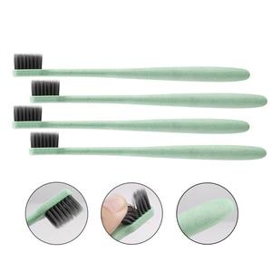 Image 5 - Зубная щетка с мягкой щетиной, антибактериальная зубная щетка из пшеничной соломы для ухода за полостью рта, 10 шт.