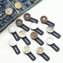 No Sewing Snap Metal Retractable Buttons for Clothing Jeans Adjustable Waistline Increase Waist Fastener Extended Button 14style