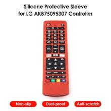 Casos de controle remoto silicone capas protetoras à prova de choque para lg tv akb75095307 akb74915305 akb75375604 controle remoto