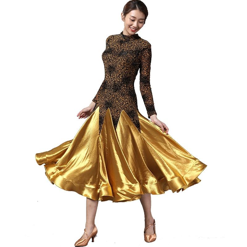 Women Ballroom Dress Standard Dance Dresses Waltz Dress Lace Dress