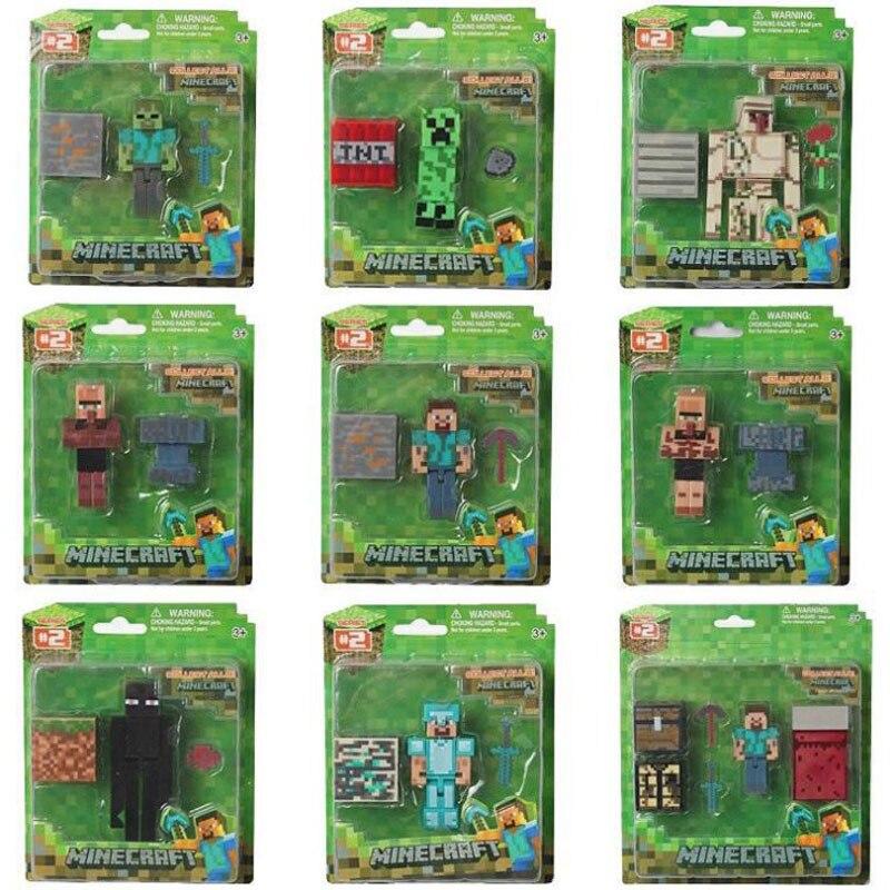 Minecraft-figuras de acción de Steve para niños, modelo de juego periférico creativo, juguetes, regalo de cumpleaños y Navidad, Unisex, 2020