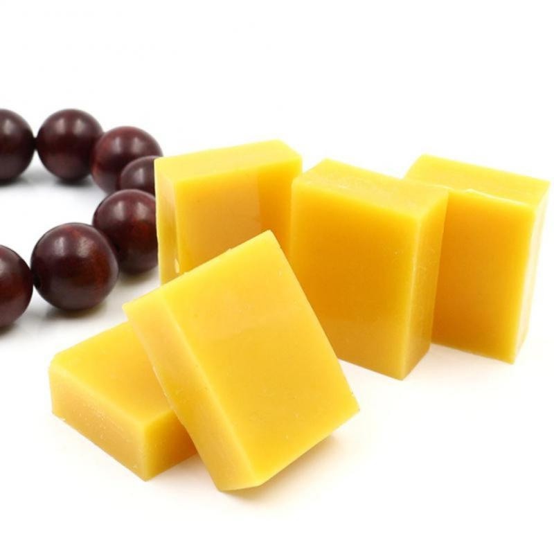 15-50g 100% Organic Natural Pure Beeswax Seasoning Honey Wax Bee Cosmetic Care For Wood Maintenance Furniture Polishing Cleaning