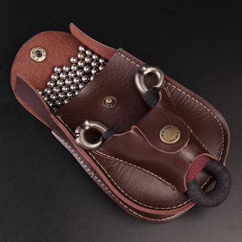 1 Pc 11*13.5*3 cm Leather Slingshot Pouch Catapult Case Steel Ammo Balls Waist Bag  Outdoor Hunting Sports Accessories