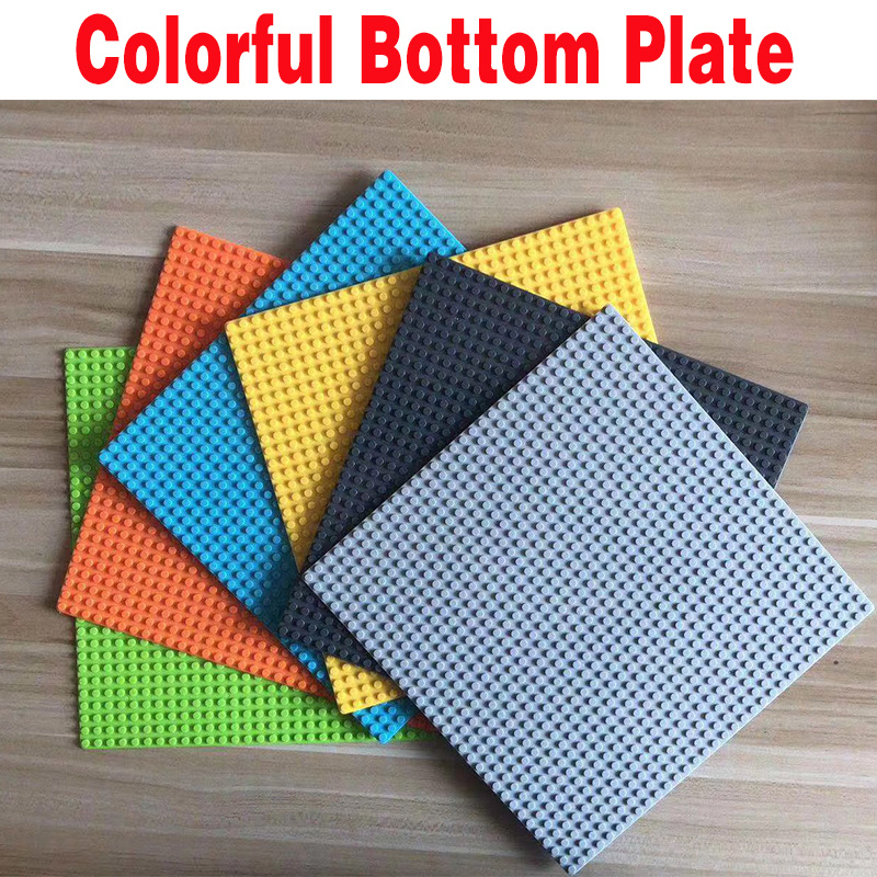 1 plate of 10 colors Classic Base Plates Plastic Bricks Baseplates dimensions Building Blocks Construction Toys image