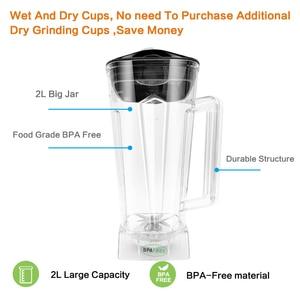 Image 4 - BPA FREE 3HP 2200 Вт Сверхмощный коммерческий блендер соковыжималка для льда смузи профессиональный процессор миксер