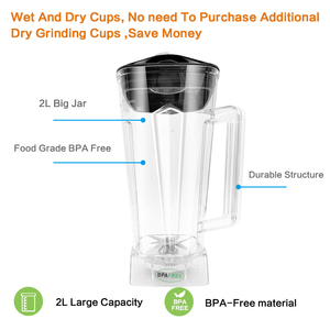 Image 4 - BPA FREE 3HP 2200W Heavy Duty Commercial Blender Juicer Ice Smoothie Professional Processor Mixer
