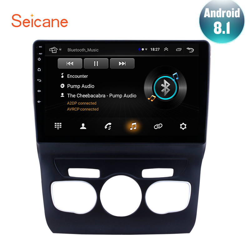 Seicane Gps-Navigation-System Bluetooth-Radio TPMS Citroen C4 Touchscreen SWC 0 Android