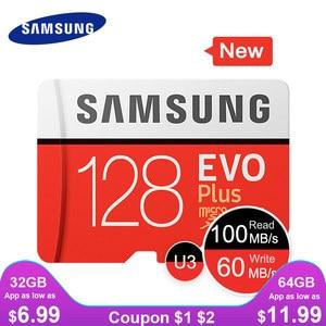SAMSUNG New Micro SD Memory Card EVO+ 128GB 64GB 32GB 95MB/s 100MB/s C10 SDHC SDXC U1 U3 TF Card 64 G 32 G Cards 100% Original