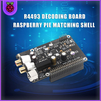 R93 AK4493 Digital Broadcast Network Player Raspberry Pi DAC Connected To I2S 384K DSD 128  For Raspberry Pi 3B/3B+/4B Pi 4B