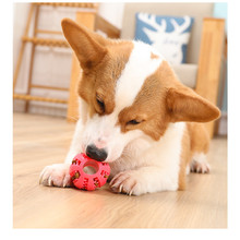 Pet Dog Accessories Dog Toys Interactive Elasticity Ball Natural Rubber Leaking Ball Tooth Clean Ball Cat Chew Interactive Toys