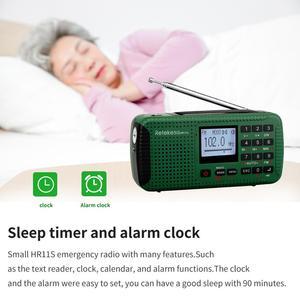 Image 5 - RETEKESS HR11S Tragbare Radio Bluetooth lautsprecher Solar Notfall Radio Empfänger FM MW SW Mit MP3 Player Digital Recorder