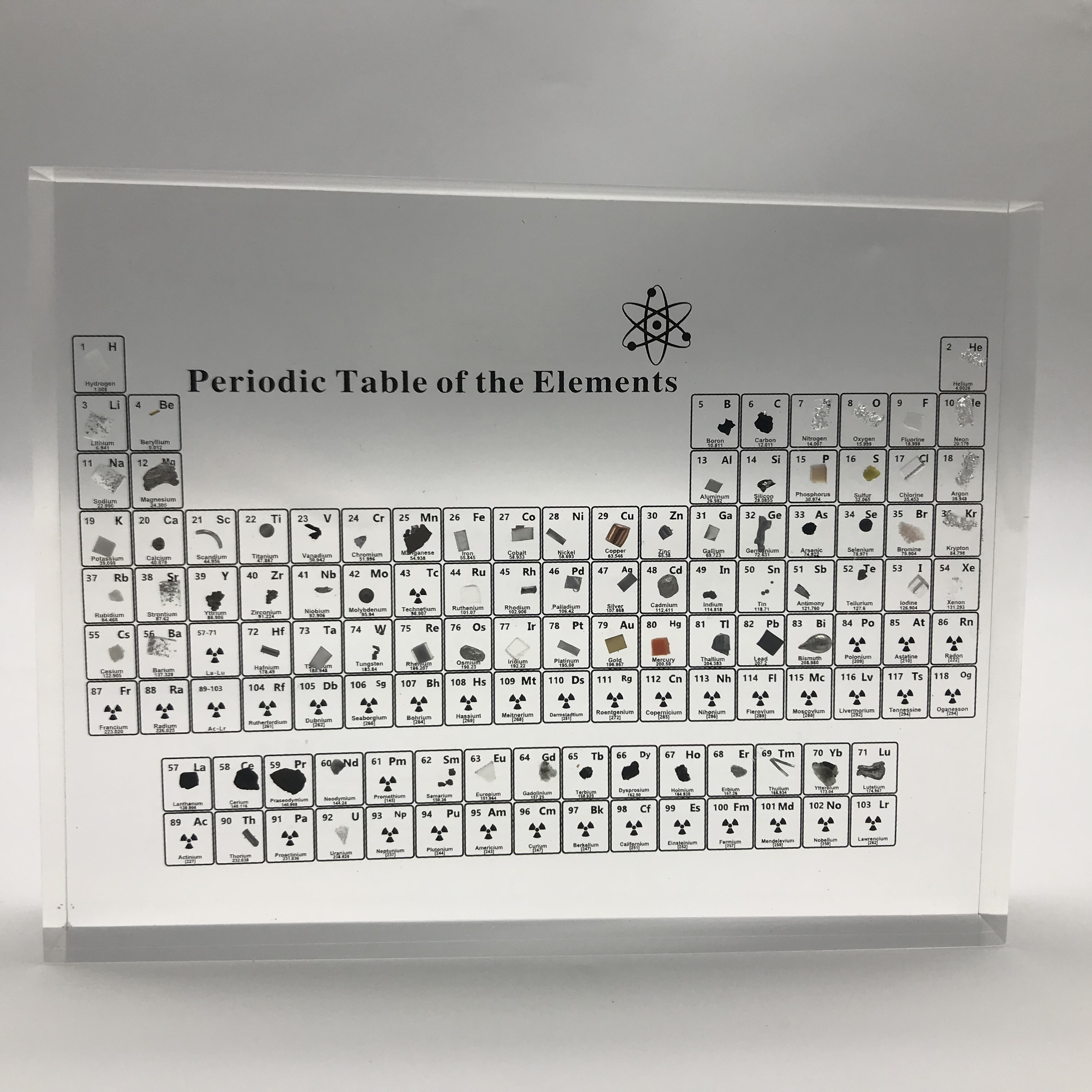 Periodic Table of Elements Periodic Table Display With Real Elements Kids Teaching Teachers Day Gifts Periodic Table Acrylic