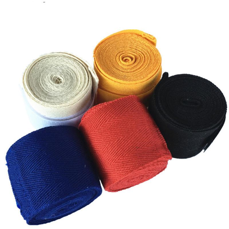 2.5M Length 5cm Width Cotton Boxing Hand Wraps Boxing Kickboxing Muay Thai Handwraps For Training Bandages Hand Guard