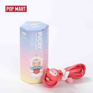 POPMART Pucky blind box series of USB cables for Apple Device Random box gift Action Figure Birthday Gift Kid Toy free shipping(China)