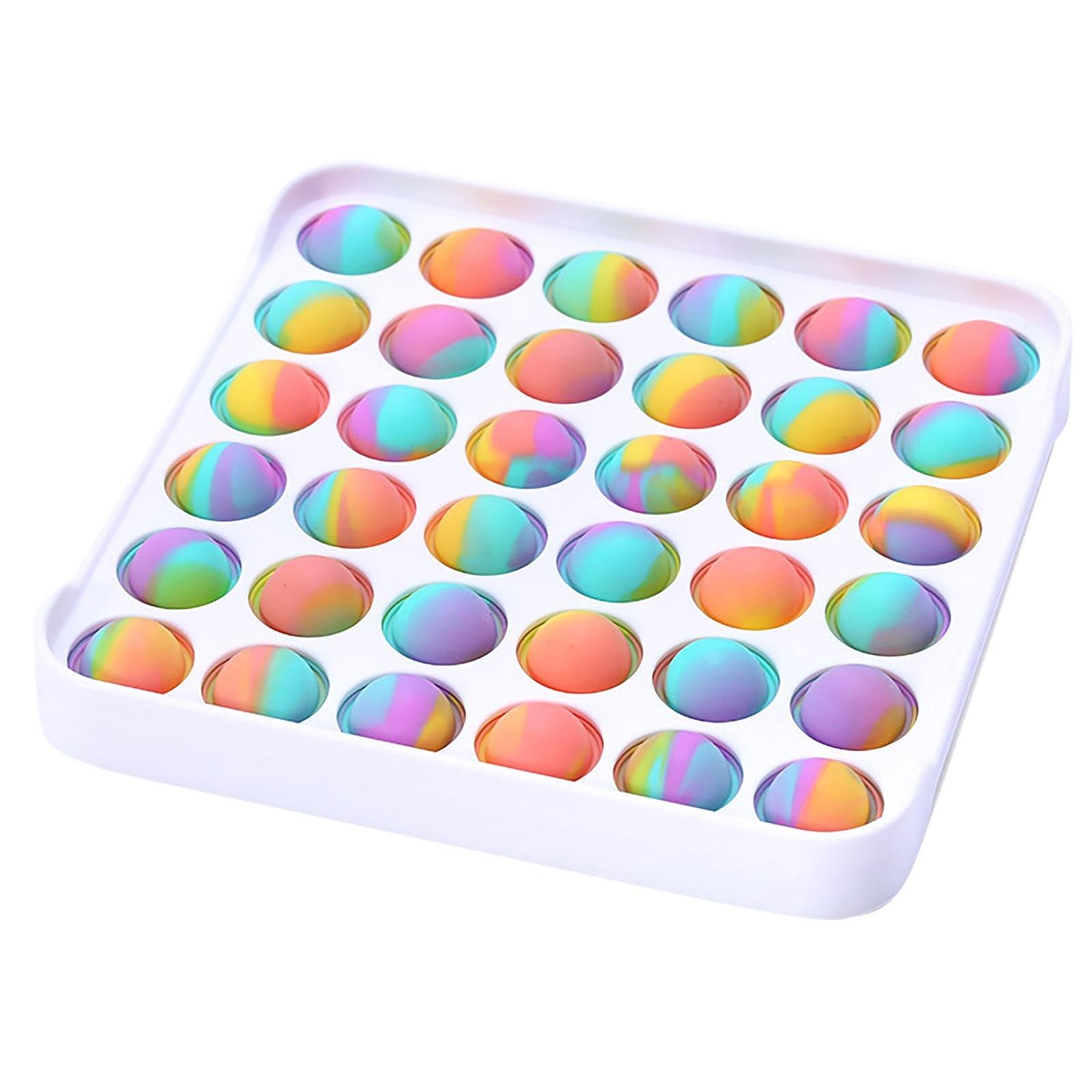 Colorful Push Pops Fidget Bubble Sensory Squishy Stress Reliever Autism Needs Anti-stress Pop-It Rainbow Adult Toys For Children