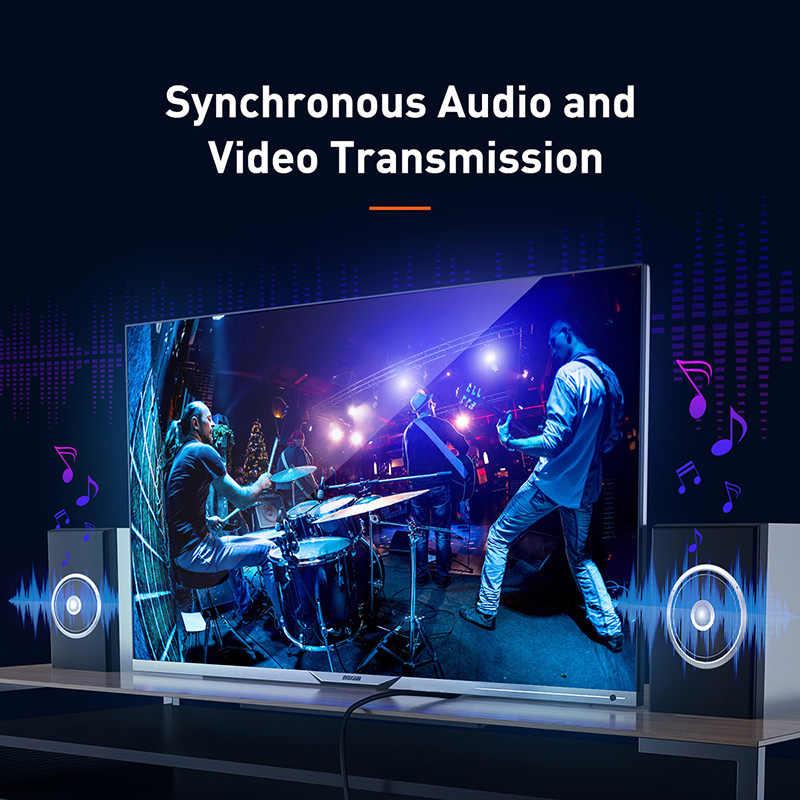 Baseus 4K HDMI kabel do HDMI 2.0 kabel do PS4 TV, pudełko projektor cyfrowy Splitter Displayport przełącznik 60HZ wideo HDMI przewód zasilający