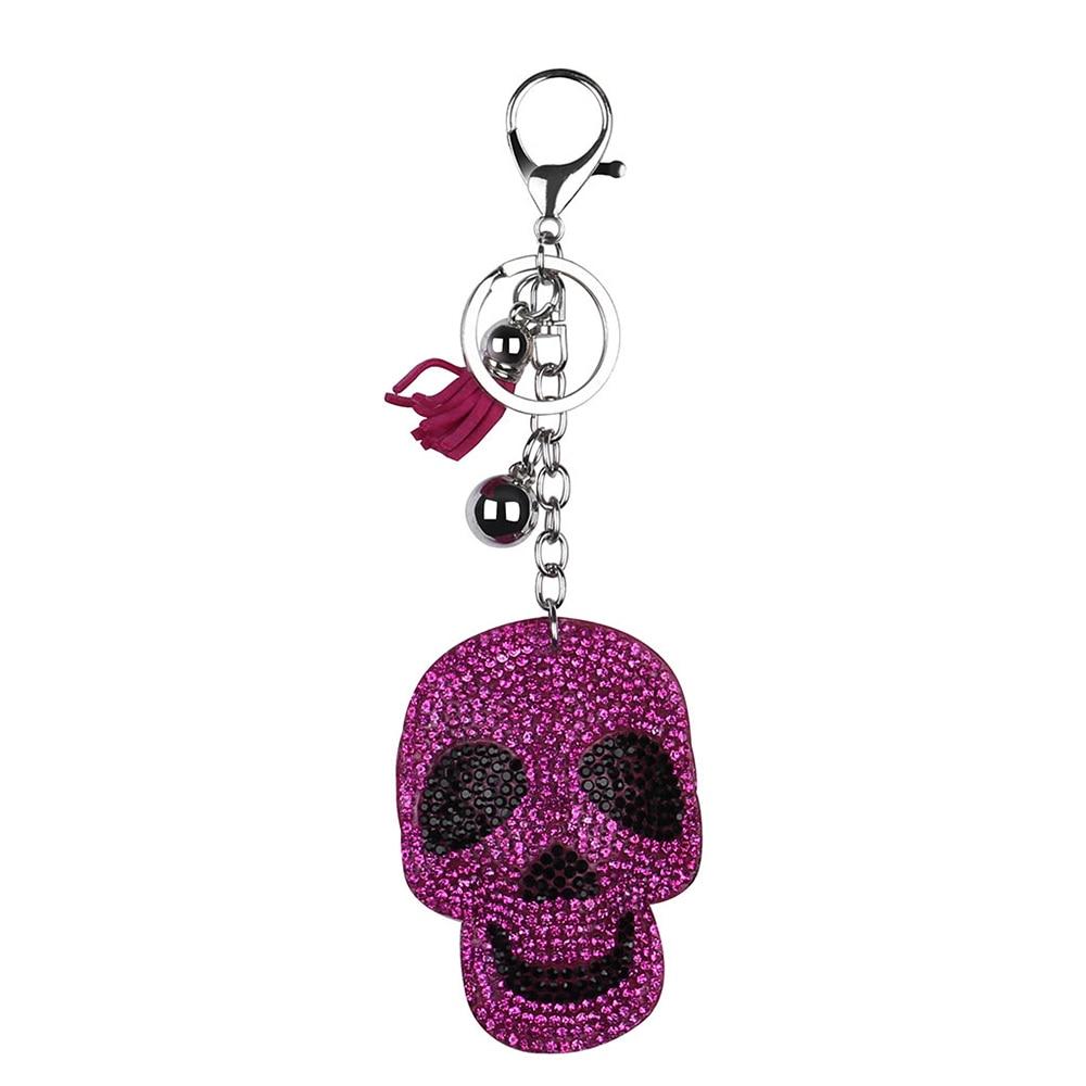 Брелок для ключей на Хэллоуин, брелок с расцепной брелок, брелок с бриллиантами, подарок на Хэллоуин - Цвет: E